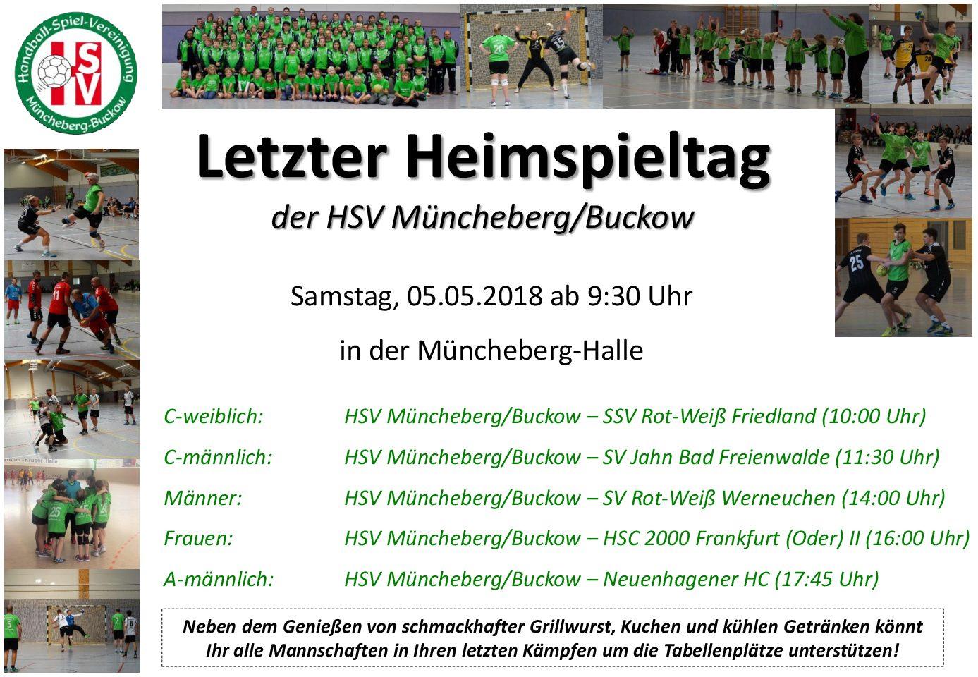 Letzter Heimspieltag der HSV Müncheberg/Buckow